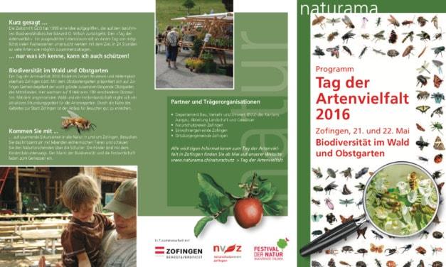 Tag der Artenvielfalt 2016 in Zofingen